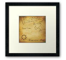 Old treasure map Framed Print