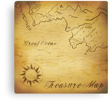 Old treasure map Canvas Print