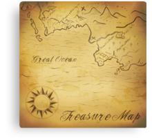 Old treasure map Canvas Print