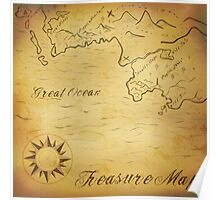 Old treasure map Poster