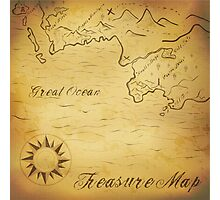 Old treasure map Photographic Print