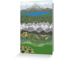 The Hobbit Journey Poster Greeting Card