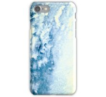 Hand painted clouds. Watercolor sky. Abstract painting. Ice iPhone Case/Skin