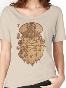 Captain Salty on Wood Women's Relaxed Fit T-Shirt