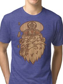 Captain Salty on Wood Tri-blend T-Shirt