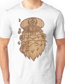 Captain Salty on Wood Unisex T-Shirt