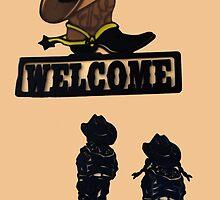Western Welcome by Al Bourassa