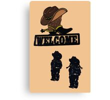 Western Welcome Canvas Print