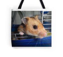 Blu Fondue, the beatnik hamster Tote Bag