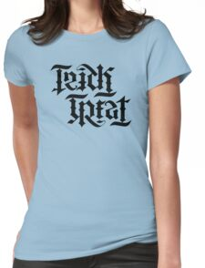 TrickTreat typography Womens Fitted T-Shirt