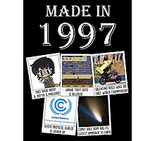 Made in 1997, main historical events Photographic Print