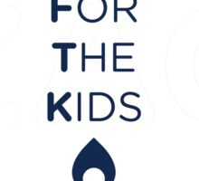 FOR THE KIDS NAVY FLAME Sticker