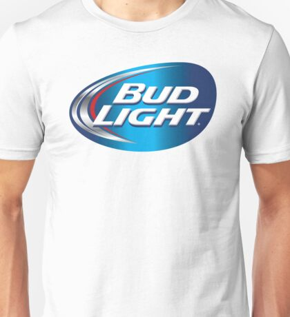 BLUE BACKGROUND BUD LIGHT Unisex T-Shirt