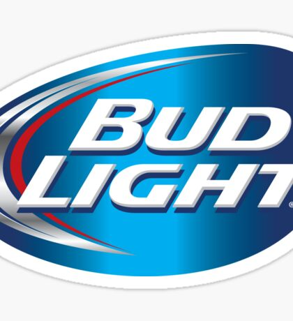 BLUE BACKGROUND BUD LIGHT Sticker
