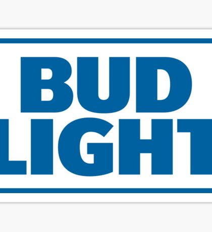 BLUE TEXT BUD LIGHT Sticker
