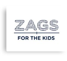 ZAGS FOR KIDS LINE Canvas Print