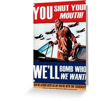 Fake propaganda Greeting Card