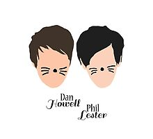Phil Lester and Dan Howell (with text) by ElinCST