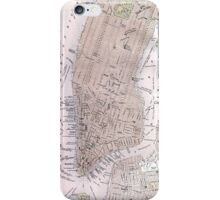 Vintage Map of New York City (1884) iPhone Case/Skin