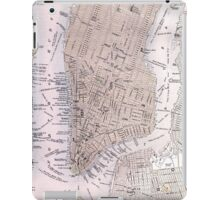 Vintage Map of New York City (1884) iPad Case/Skin