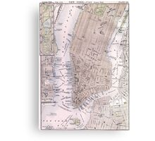 Vintage Map of New York City (1884) Canvas Print