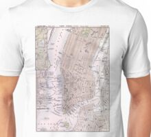 Vintage Map of New York City (1884) Unisex T-Shirt