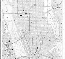 Vintage Map of New York City (1911) by BravuraMedia