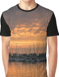 Just a Sliver of the Sun - Sunrise God Rays at the Marina Graphic T-Shirt