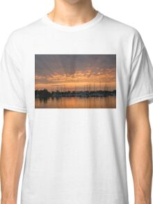 Just a Sliver of the Sun - Sunrise God Rays at the Marina Classic T-Shirt