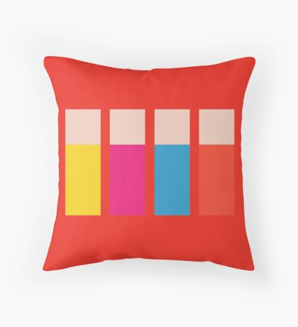 Sgt. Pixel's Lonely Hearts Club Band Throw Pillow