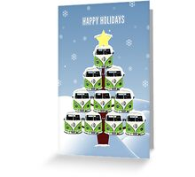 VW Camper Christmas Happy Holidays Greeting Card