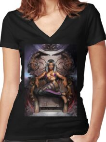 SINDEL - MORTAL KOMBAT Women's Fitted V-Neck T-Shirt
