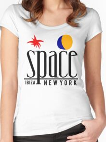 SPACE IBIZA Women's Fitted Scoop T-Shirt