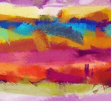 Colorful Pastel Abstract Art by Nhan Ngo