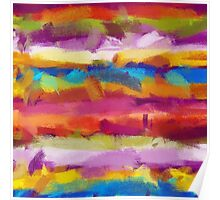 Colorful Pastel Abstract Art Poster