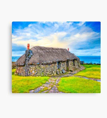 Wee Cottage On The Isle of Skye - Scottish Highlands Canvas Print