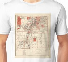 Vintage Map of New Mexico (1882) Unisex T-Shirt