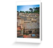 Spanish Roofs Greeting Card