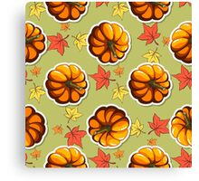 Autumn Seamless Pattern Canvas Print