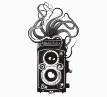 Rolleiflex Camera with octopus One Piece - Short Sleeve