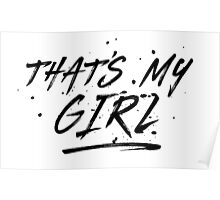 Fifth Harmony That's My Girl Official 7/27 Merch #5 ( Black ) Poster