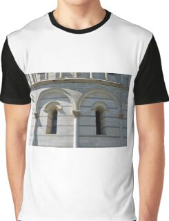 Detail of the Baptistery building in Piazza dei Miracoli (Square of Miracles), Pisa, Tuscany, Italy Graphic T-Shirt