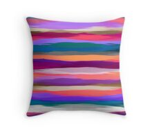 Watercolor Multicolor Abstract Background Throw Pillow