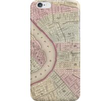 Vintage Map of New Orleans (1880) iPhone Case/Skin