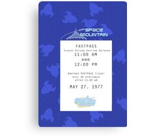 Space Mountain Fastpass Canvas Print