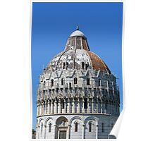 Detail of the Baptistery building in Piazza dei Miracoli (Square of Miracles), Pisa, Tuscany, Italy Poster