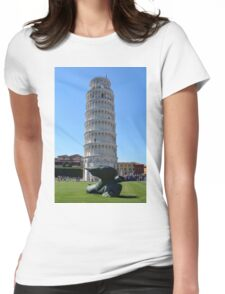 Leaning Tower in Piazza dei Miracoli (Square of Miracles), Pisa, Tuscany, Italy Womens Fitted T-Shirt