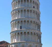 Leaning Tower in Piazza dei Miracoli (Square of Miracles), Pisa, Tuscany, Italy Sticker