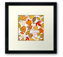 Falling leaves pattern Framed Print