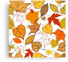 Falling leaves pattern Canvas Print